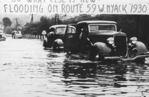 1930s flooding from the Nyack Library Archives