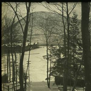 Bear Mtn Inn from the Ski Slope. Photo courtesy of Palisades Park Commission.